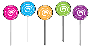 5 clipart lollypop