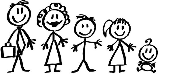 5 clipart person. Free family of cliparts