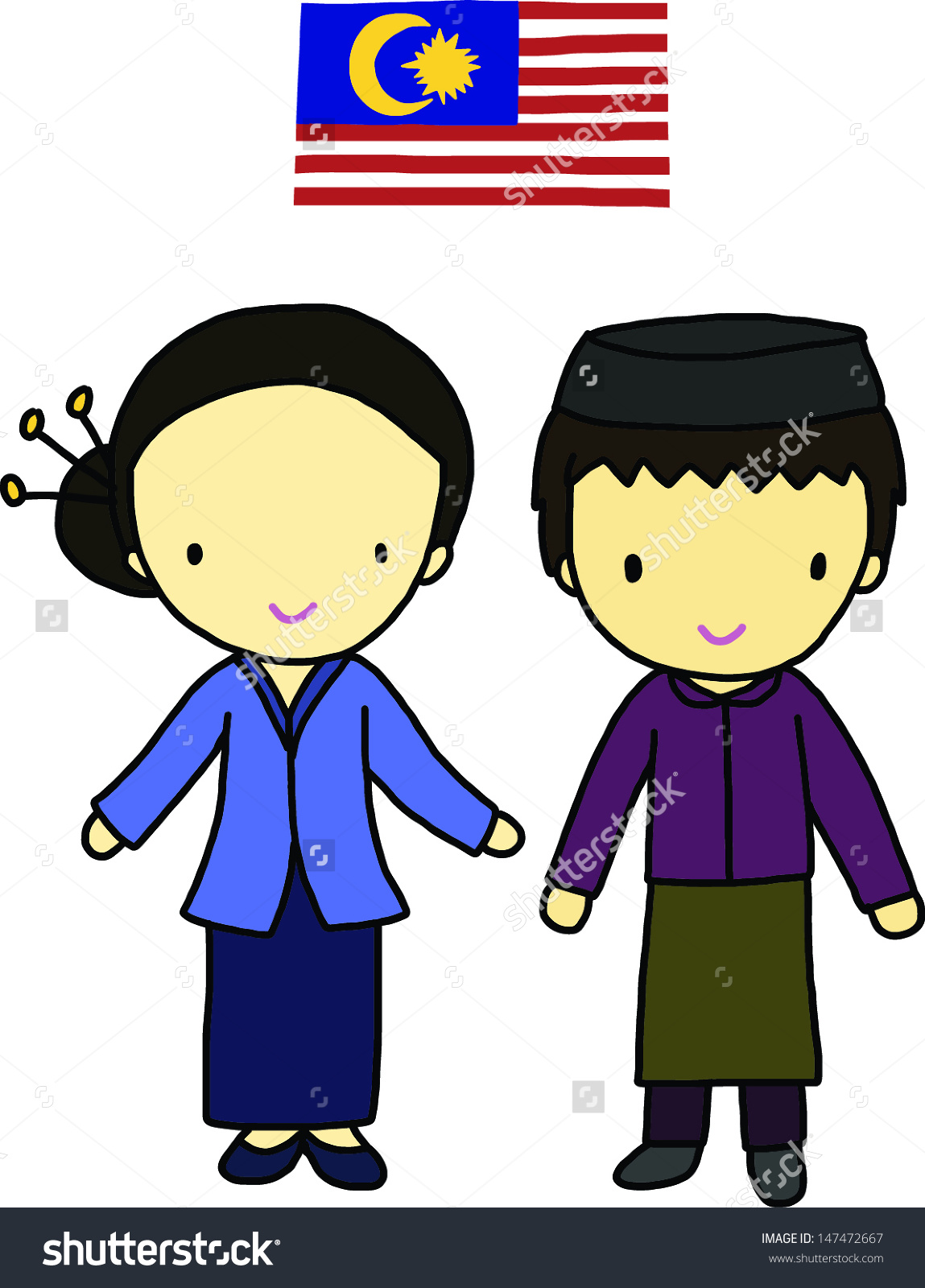 Malay station . 5 clipart person
