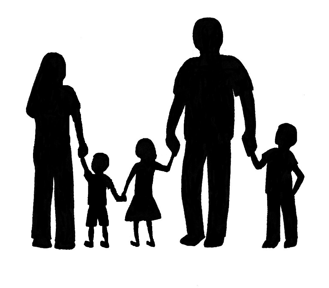 Free family of cliparts. 5 clipart person