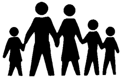 Five People Clipart