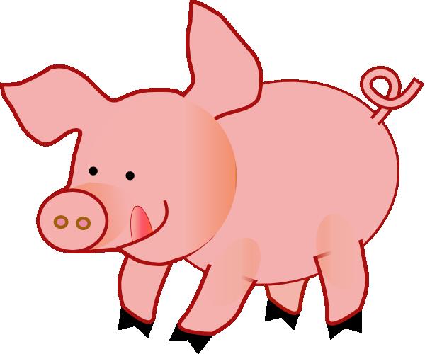 Pink happy clip art. 5 clipart pig