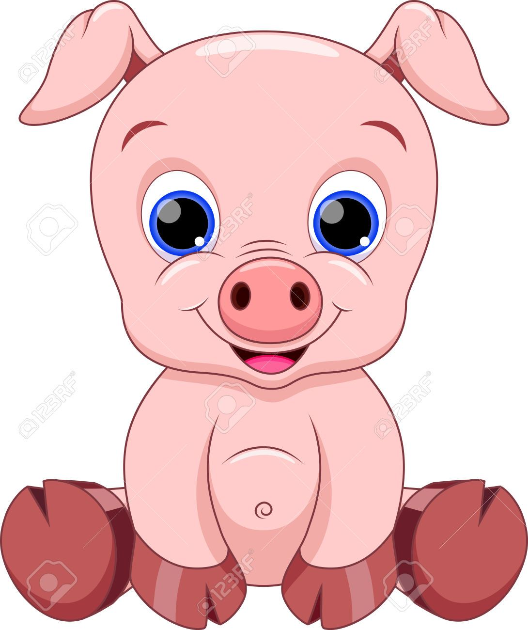 Cute baby cartoon royalty. 5 clipart pig