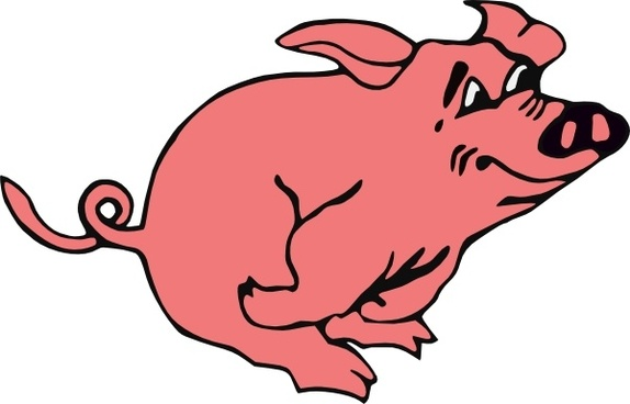 5 clipart pig. Vector for free download
