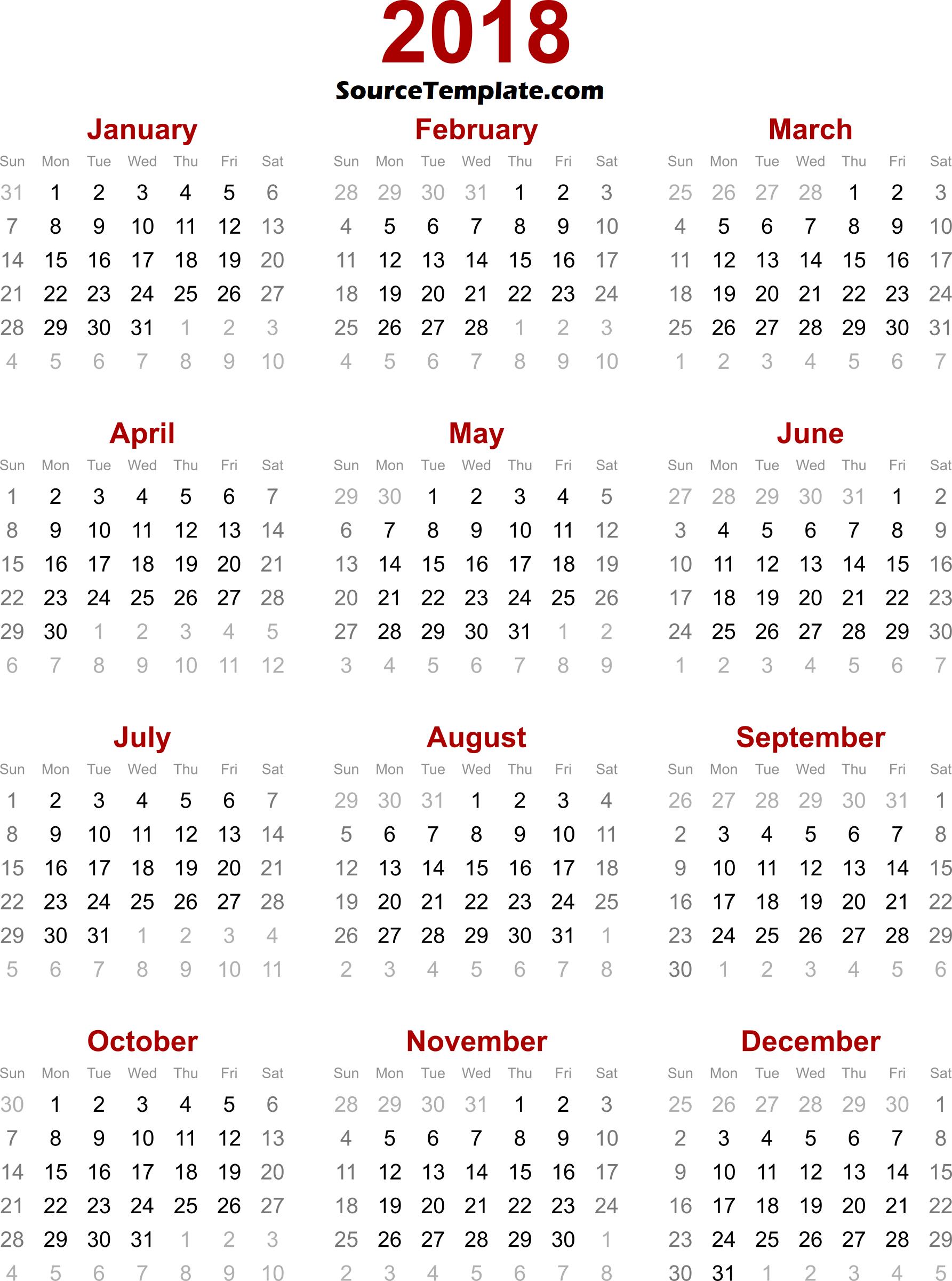 Calendar clipart april 2018.  printable template free