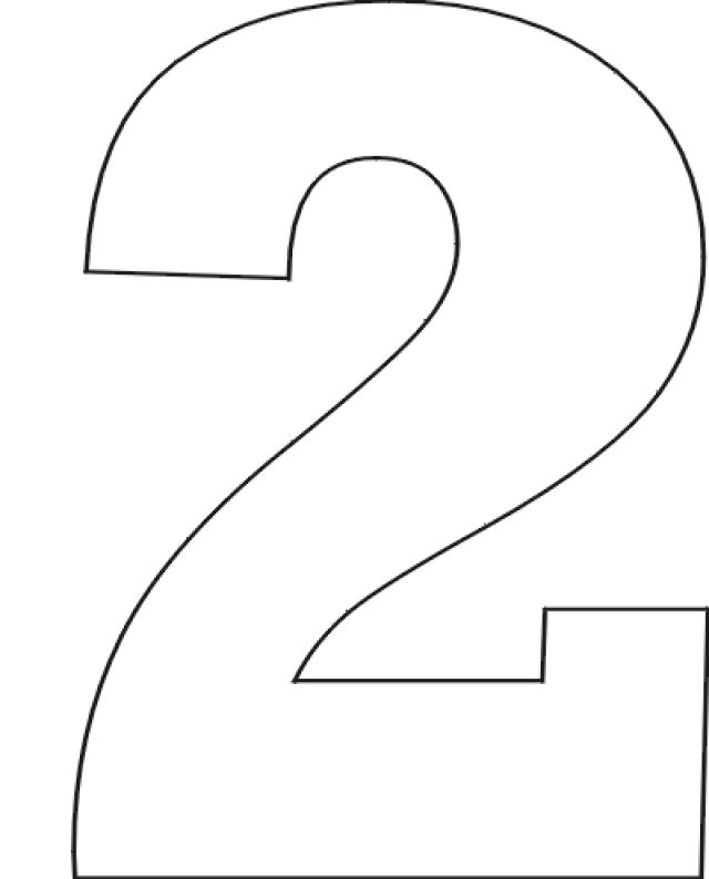 printable letters number. 2 clipart black and white