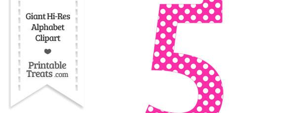 Hot pink polka dot. 5 clipart printable