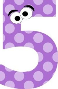 Free number cliparts download. 5 clipart purple