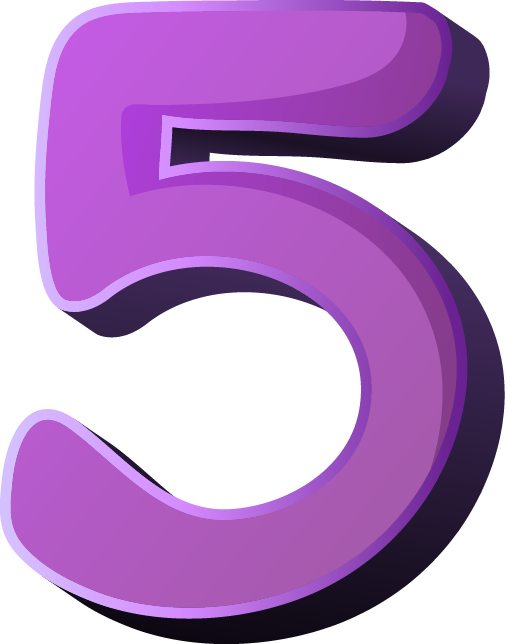 5 clipart purple. Number png images free