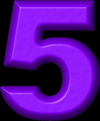 Presentation alphabets refrigerator magnet. 5 clipart purple