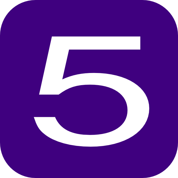 5 clipart purple. Number clip art at