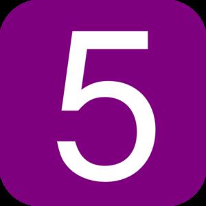 5 clipart purple #16649324