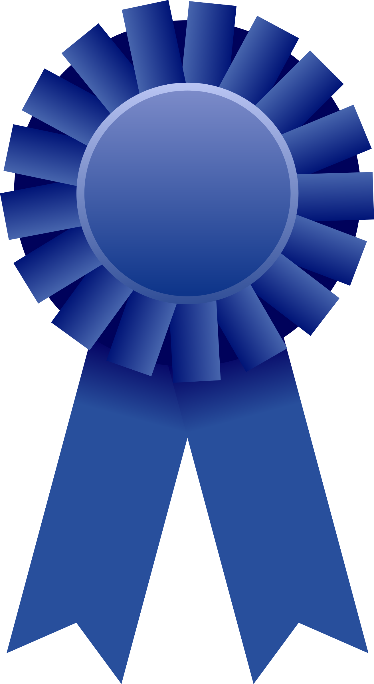 Award ribbon png station. Dictionary clipart blue