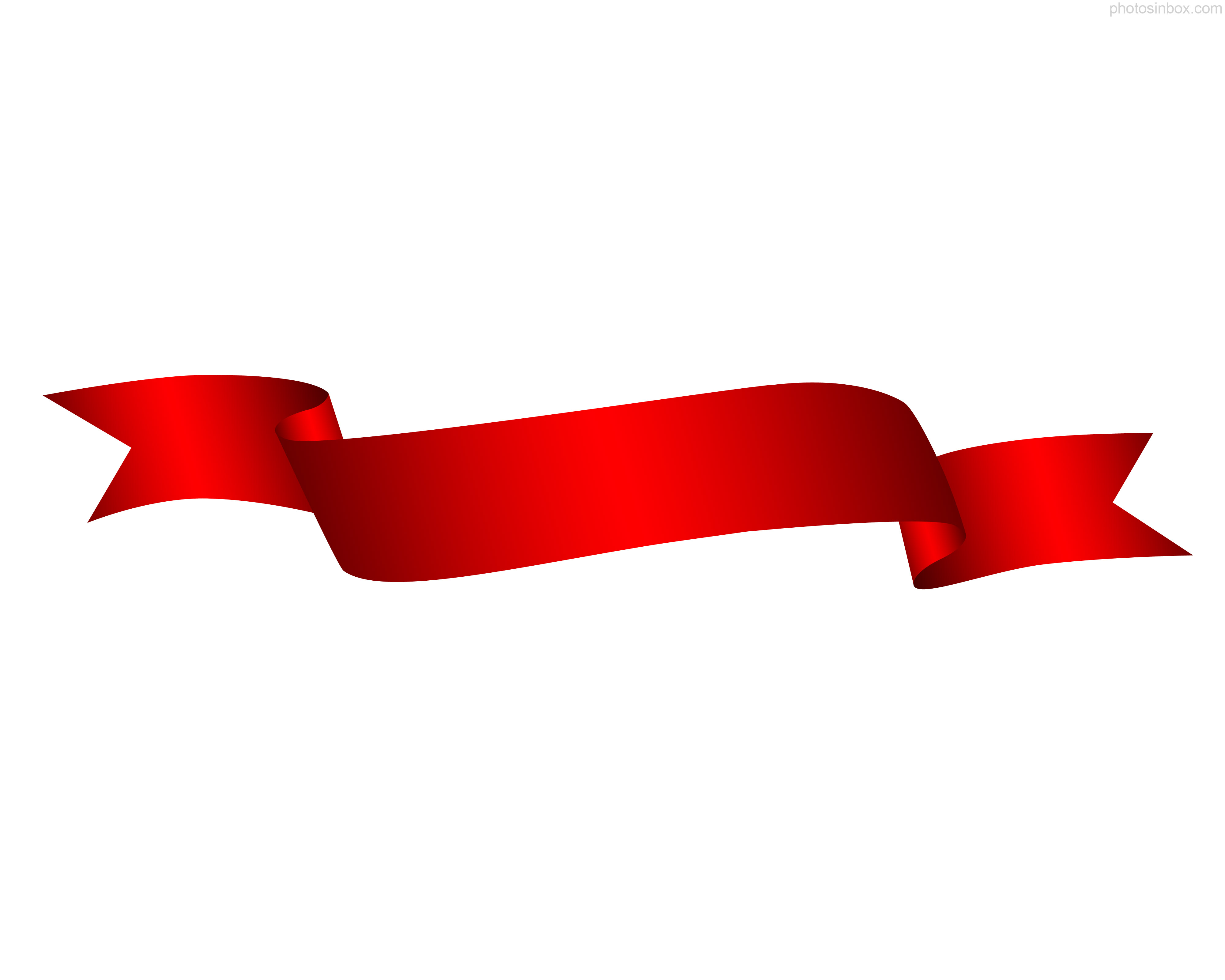 red ribbon clipartlook. Banners clipart corner