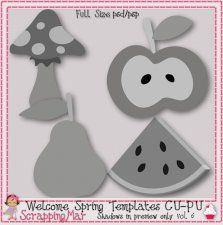 Welcome spring layered templates. 5 clipart scrapbook