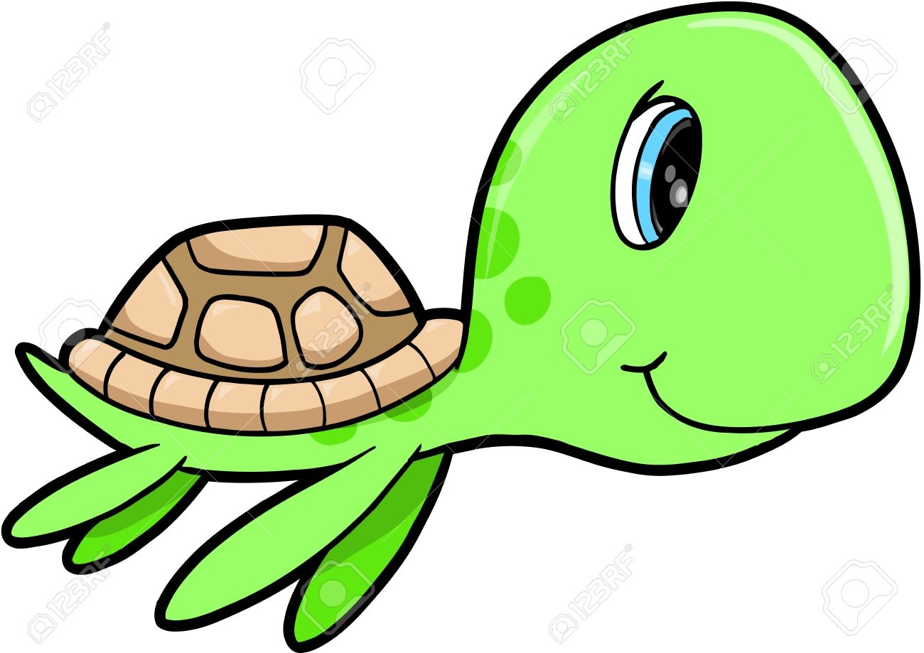 Unique turtles cartoon images. 5 clipart sea turtle