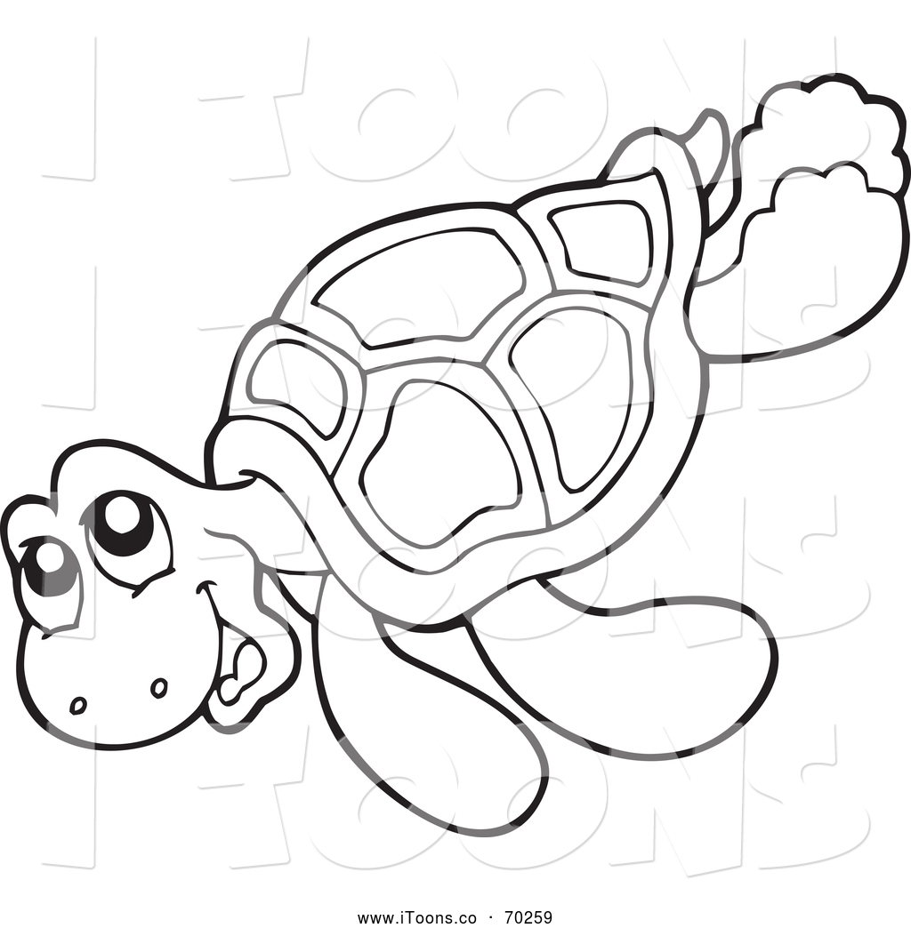5 clipart sea turtle. Black and white station