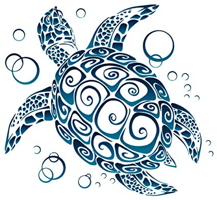 Amazon com tribal window. 5 clipart sea turtle