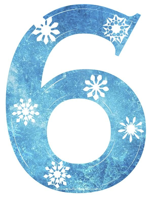 Snowflake number download. 5 clipart six