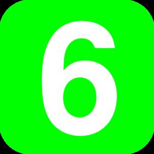 Number green clip art. 5 clipart six