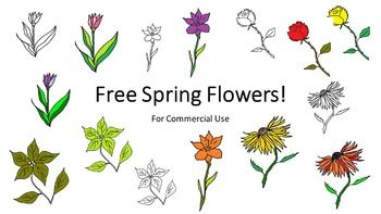 Free flowers clip art. 5 clipart spring