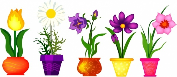 5 clipart spring. Flower station