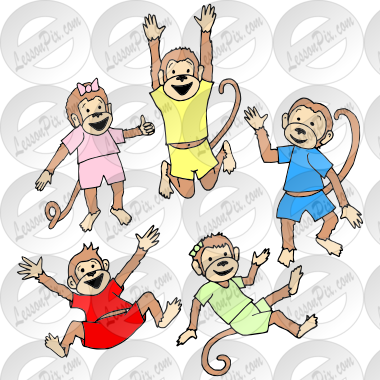 5 clipart therapy.  little monkeys picture