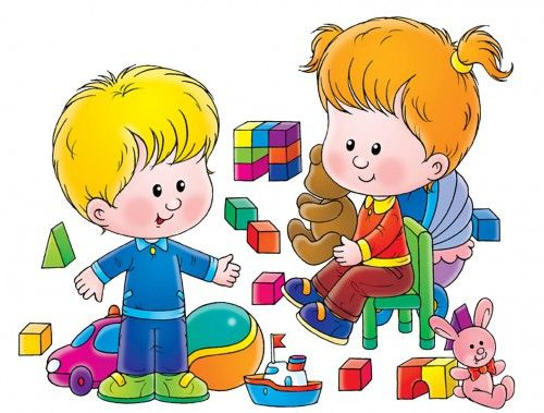 Children playing with toys. 5 clipart toy