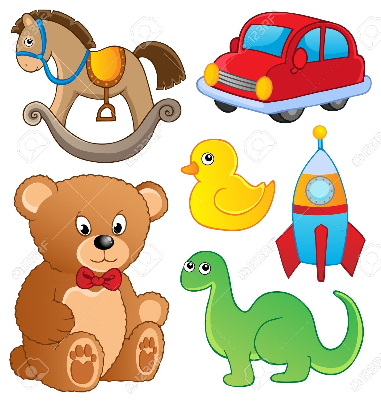 Fresh collection digital coloring. 5 clipart toy