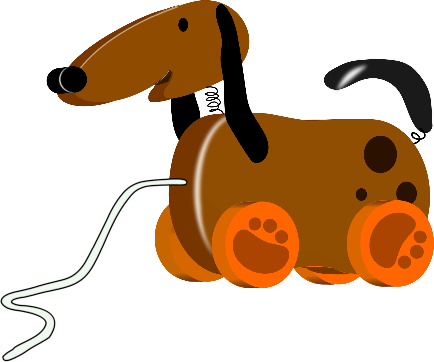 Toy dog big image. Clipart dogs stick figure