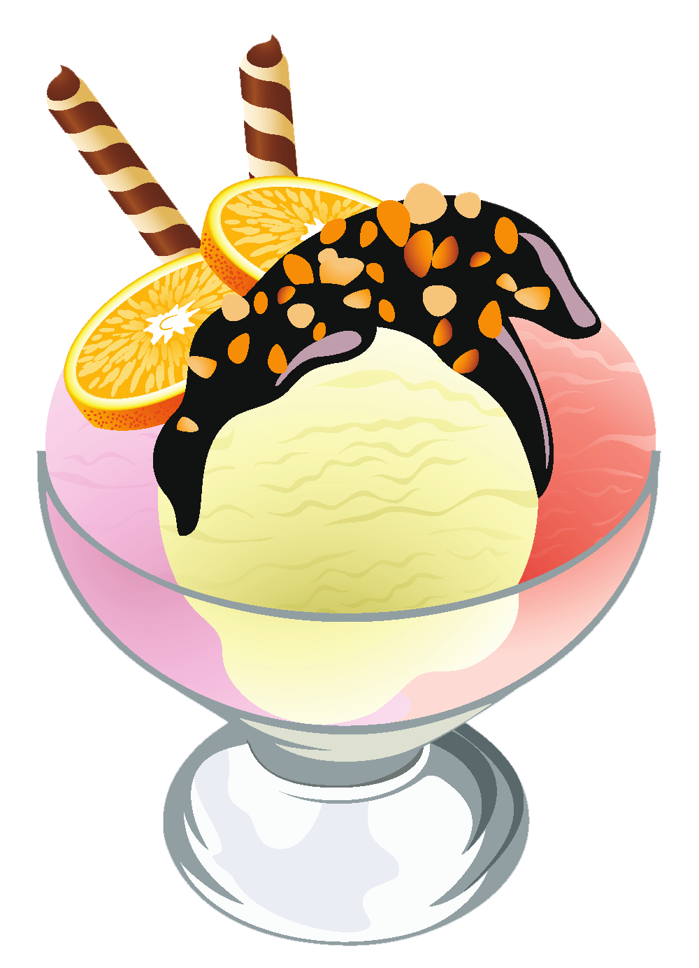Doughnut clipart sugary food. Ice cream sundae transparent