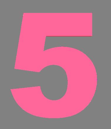 Number png . 5 clipart transparent