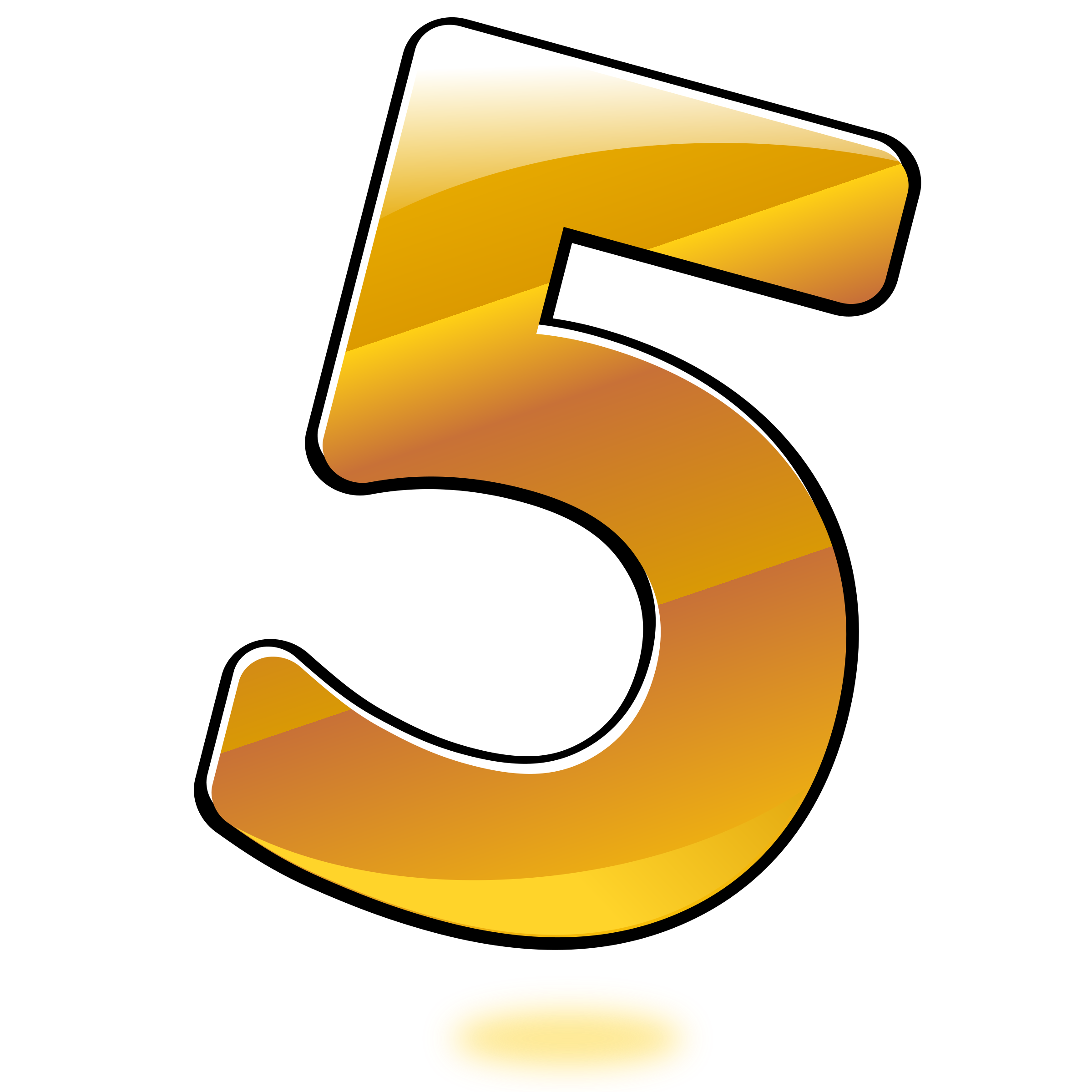 collection of number. 5 clipart transparent