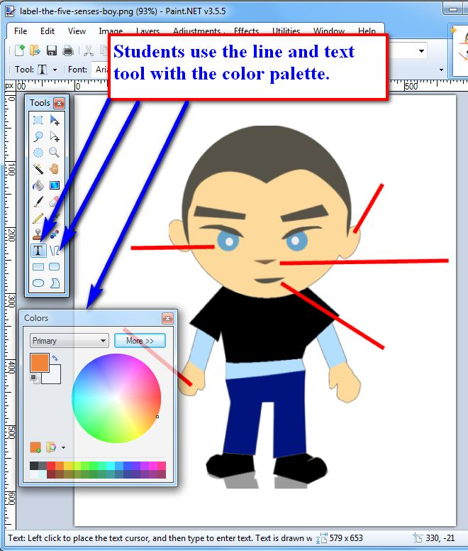 5 senses clipart animated. Labeling the five k