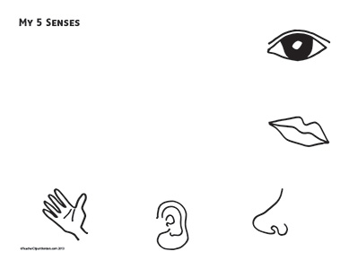 5 senses clipart black and white.  collection of sense
