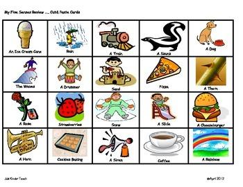 5 senses clipart chart. Five sorting activity