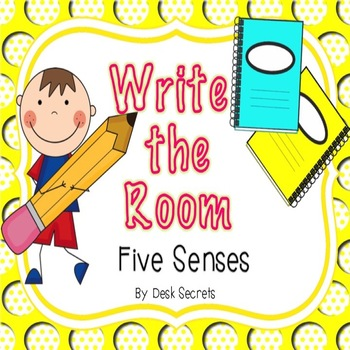 Write the room five. 5 senses clipart children's