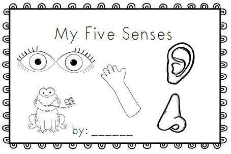 5 senses clipart coloring page.  pages education pinterest