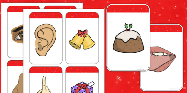 5 senses clipart communication disorder. Five matching cards christmas