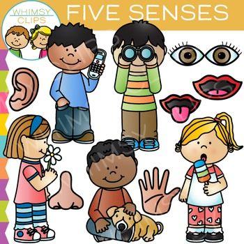 5 senses clipart cute. Five clip art from