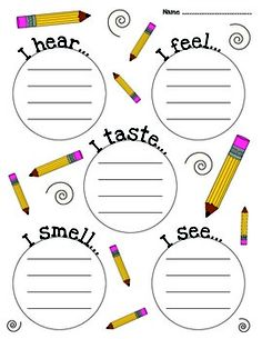 5 senses clipart descriptive writing. Here s a nice