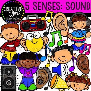Sound five creative clips. 5 senses clipart easter