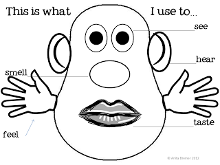 5 senses clipart face. My five coloring pages