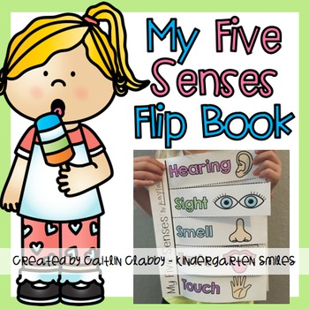 Five flip book by. 5 senses clipart grade 1
