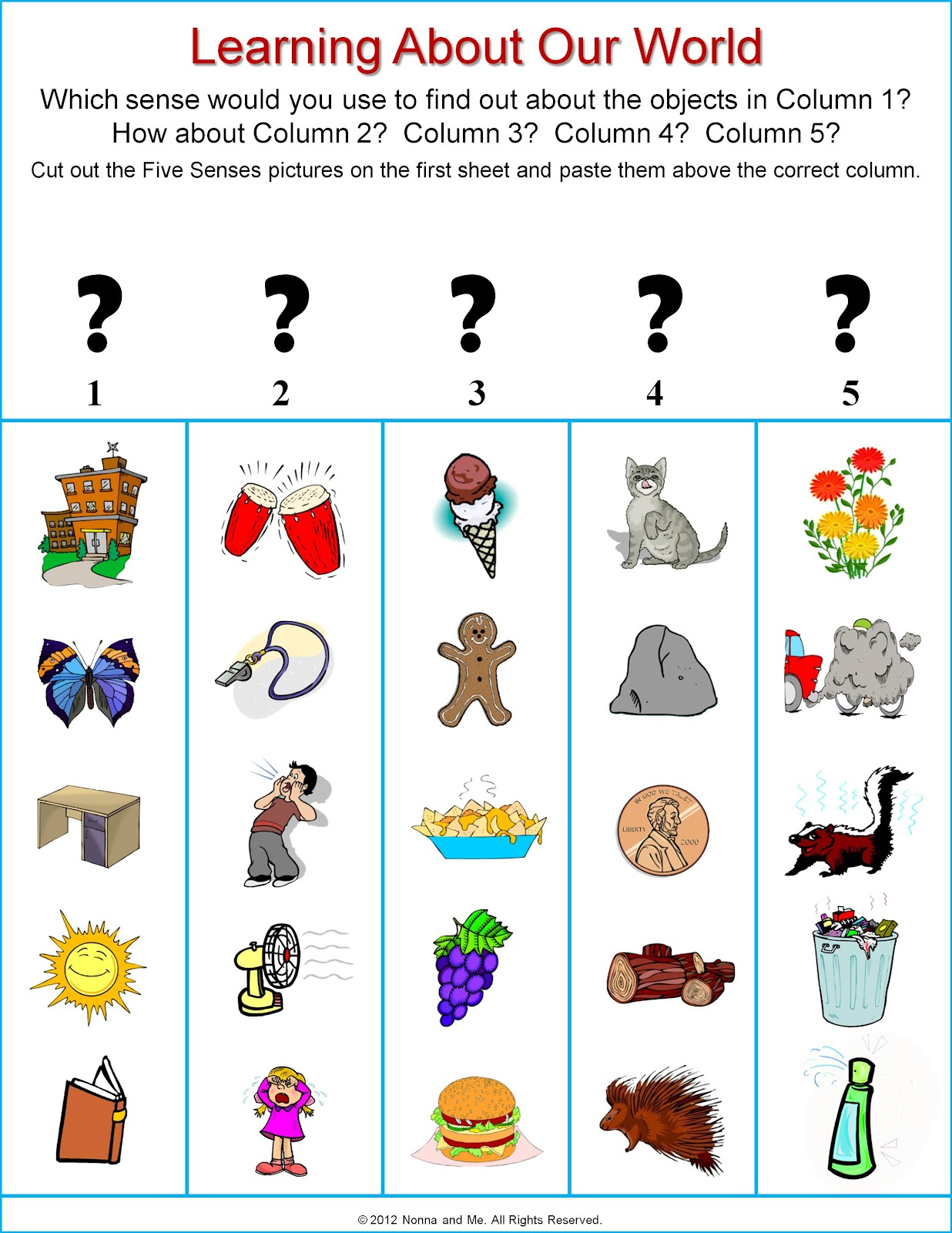 5 senses clipart grade 1. Five lessons tes teach