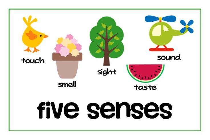 5 senses clipart mindful. Mindfulness and the garden