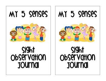 Five sight journal . 5 senses clipart observation