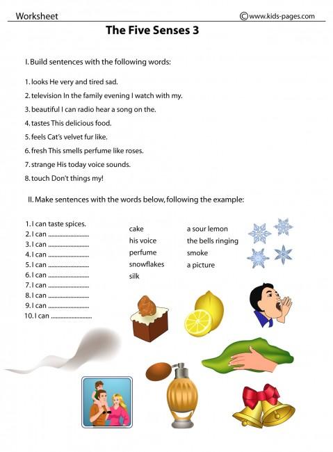 5 senses clipart pdf. Five sense worksheet new