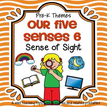 5 senses clipart pre k. Sense of sight theme
