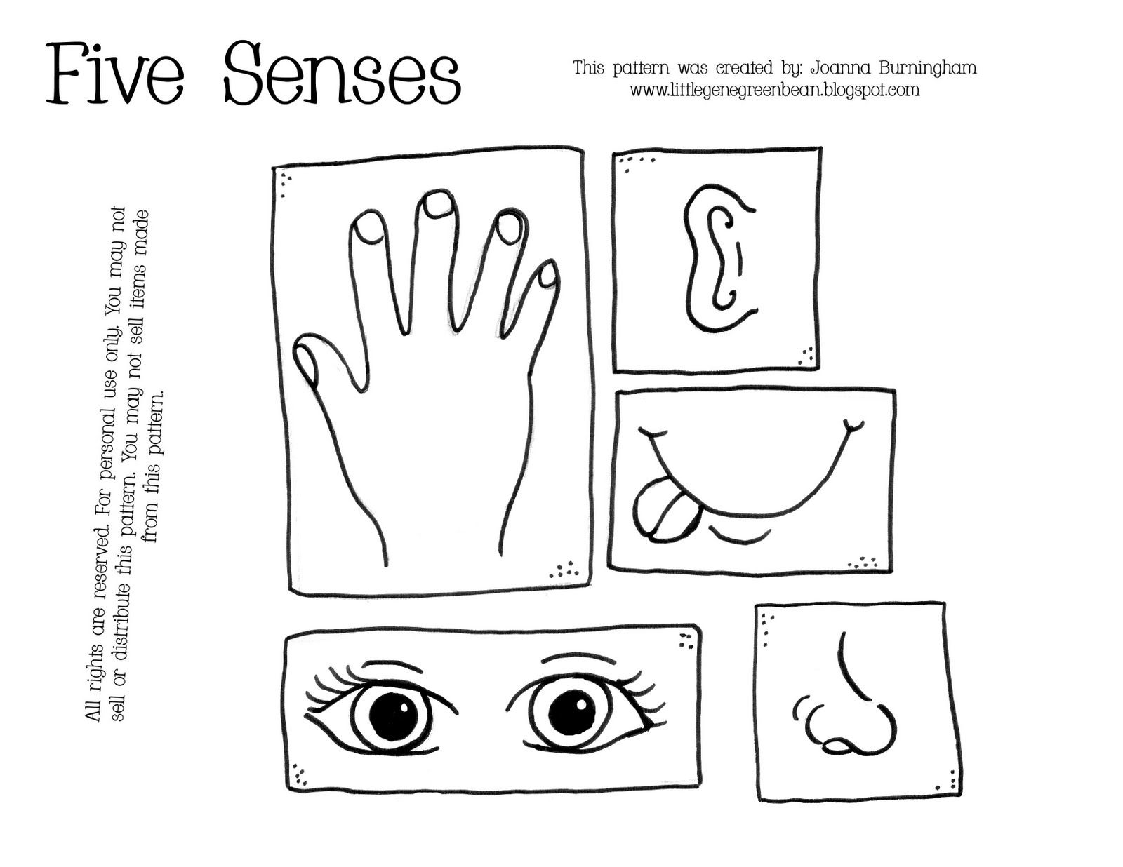 Free five teach your. 5 senses clipart printable